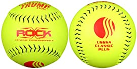 Trump® X-ROCK-CP-Y The Rock® Series 12 Inch USSSA Classic Plus Softball - Yellow Pearl Hyde Composite Leather Cover - USSSA Approved (Sold in Dozens)