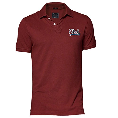 abercrombie-homme-heritage-logo-polo-top-shirt-courte-taille-medium-burgundy-623945318