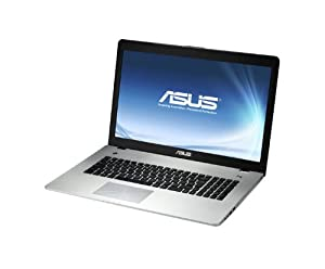 "Asus N76VZ 90NAJC452L3384VL154 Ordinateur portable 17,3"" (43,9 cm) Intel Core i7-3610QM 2 To RAM 8192 Mo Windows 7 Carte graphique Nvidia GT650M"