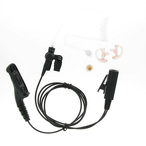 3' 2-Wire Coil Earbud Audio Mic Surveillance Kit For Motorola Two-Way Radio Mototrbo Xpr6300 Xpr6580