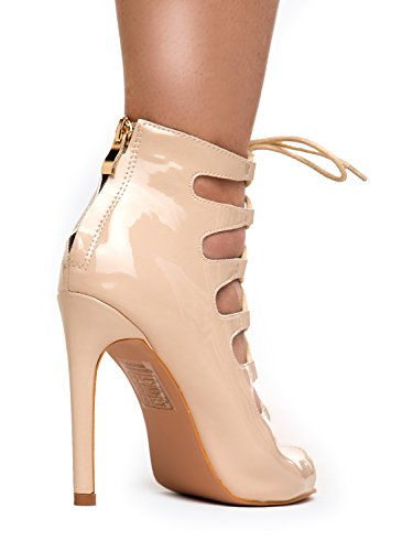 Lace up High Heel - Strappy Party Pump - Strap Formal Dress Wedding Evening Shoes - High Stiletto J Adam