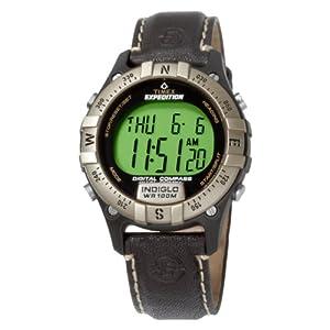 Amazon Com Timex Men S T49687 Digital Compass Leather