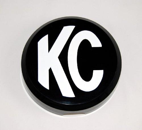 "Kc Hilites 5105 6"" Round Black Plastic Light Cover W/ White Kc Logo - Single Cover"