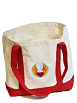 Heart Wings 12 oz. Canvas Boat Tote in Red