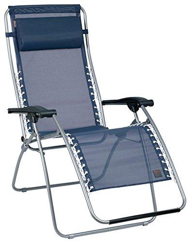 Lafuma-LFM1226-3862-Relax-Liegestuhl-klappbar-und-verstellbar-RSXA-Ocean-dunkelblau