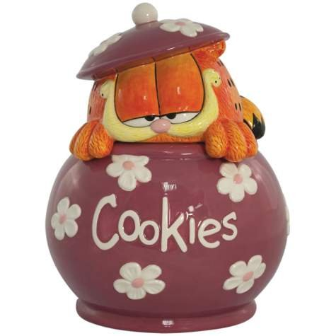 Garfield the Cat Ceramic Cookie Jar Kitchen Decor