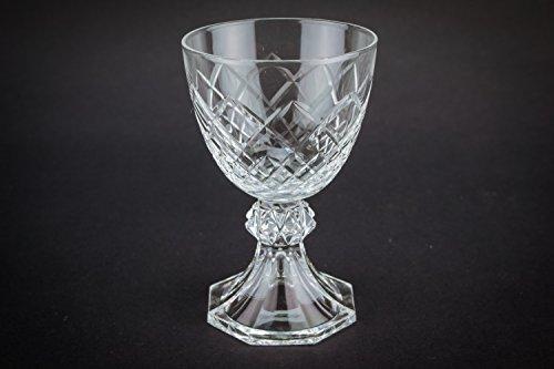4 Retro Vintage 25 Ml Crosshatch Gift Vodka Shot GLASSES Crystal Elegant Stem Small Serving Service English 1970s LS (Small Shot Glasses With Stem compare prices)