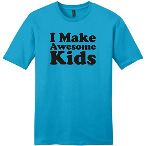I Make Awesome Kids Young Mens T-Shirt Xl Light Turquoise front-901241