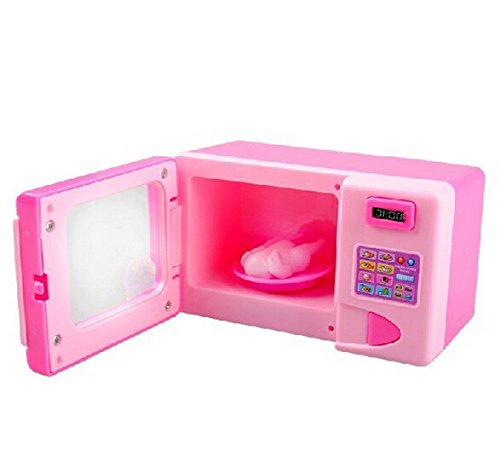 New Classical Educational Electric Kids Microwave Oven Pretend Role Play Toy Baby Kids Kitchen Toys