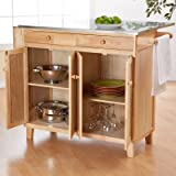The Milano Stationary Kitchen Island with Optional Stools