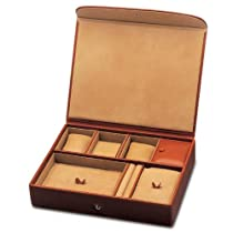 Large Leather Watch Box and Jewelry Box by Underwood