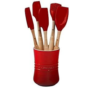 Le Creuset Revolution Silicone Utensil Set, 6-Piece, Cherry