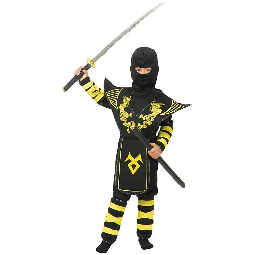 Golden Dragon Ninja Warrior Child Costume