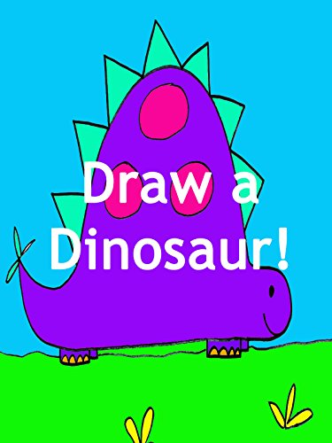 How to Draw a Dinosaur Cartoon: Drawing Lesson for Kids and Beginners