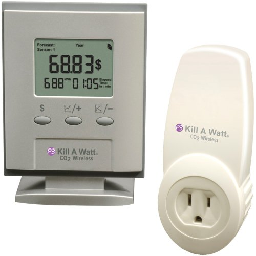 1 - KILLAWATT CO2 WRLS, Kill A Watt(R) CO2 Wireless Sensor, Includes P4255 Kill A Watt(R) CO2 accessory sensor & P4225 display, Sensor plugs into wall outlet & appliance plugs into sensor, Transmits data up to 300ft to the central LCD display, Monitors power consumption remotely within a 300ft wireless range, Built-in software customization to combine KWH with type of electricity generated locally to accurately calculate carbon footprint & electricity costs...