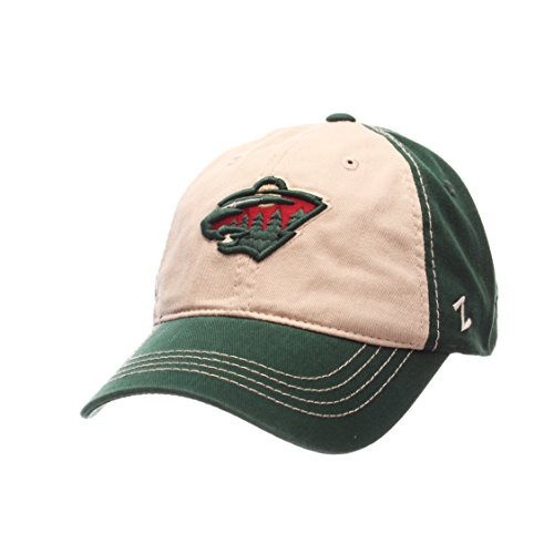 NHL Minnesota Wild Men's Sigma Relaxed Cap, Adjustable, Forest/Stone (Minnesota Wild Zephyr compare prices)