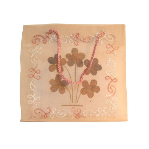 Valentine's day gift. Indian Handmand Craft Bag Organza Fabric 100% Cotton in Light Pink Color 5 Pieces Lot. Lovely Gift.