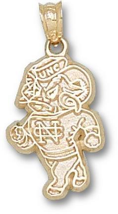 North Carolina Tar Heels NC Standing Ram Pendant - 14KT Gold Jewelry by Logo Art