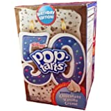 Pop Tarts Chocolate Vanilla Creme 50th Birthday Edition - 8 Pastry Box (2 Pack)