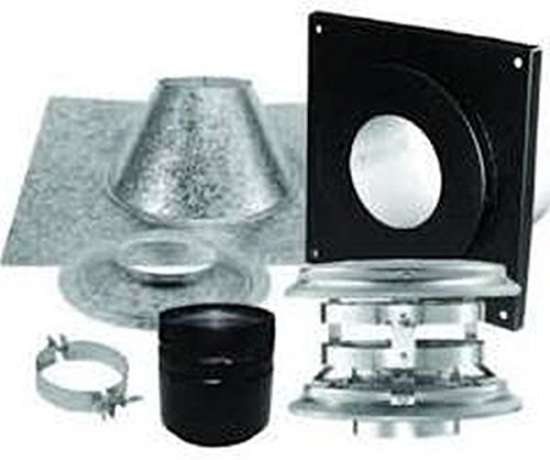 Dura-Vent 4PVP-KVA PelletVent Pro Vertical Flat Ceiling Venting Kit (Through Ceiling Chimney Kit compare prices)