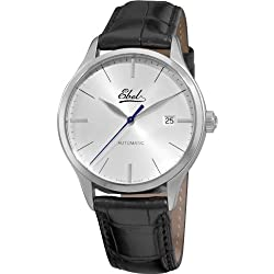 Ebel Men's 9120R41/6430136 Classic Mens Silver dial Black Strap Watch by Ebedee