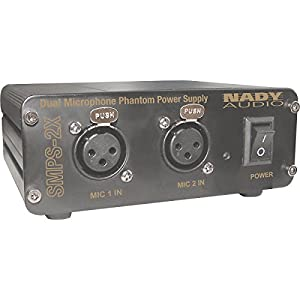 Nady SMPS-2X 2-Channel 48-Volt Phantom Power Supply for Series Condenser Microphones