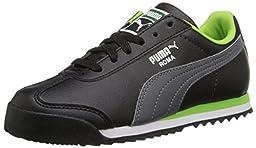 PUMA Roma Basic Kids Sneaker (Toddler/Little Kid/Big Kid) , Black/Steel Gray, 4 M US Toddler