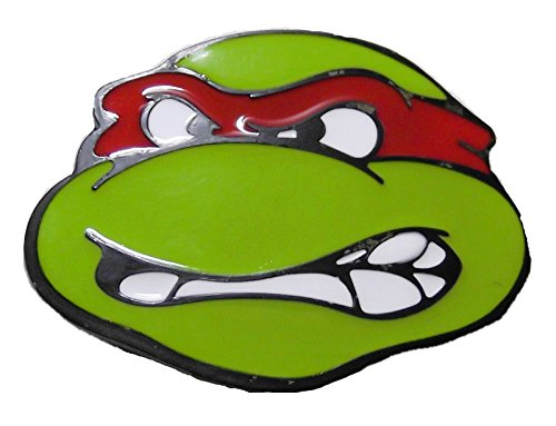 Teenage Mutant Ninja Turtles RAPHAEL Red Mask Metal/Enamel BELT BUCKLE