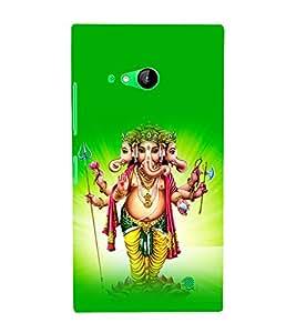 printtech Lord God Ganesha Back Case Cover for Nokia Lumia 730::Microsoft Lumia 730