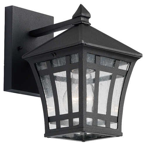 Sea Gull Lighting 88131-12 Herrington Traditional / Classic Single Light Outdoor Wall Sconce From The Herrington Collection 88131, Black