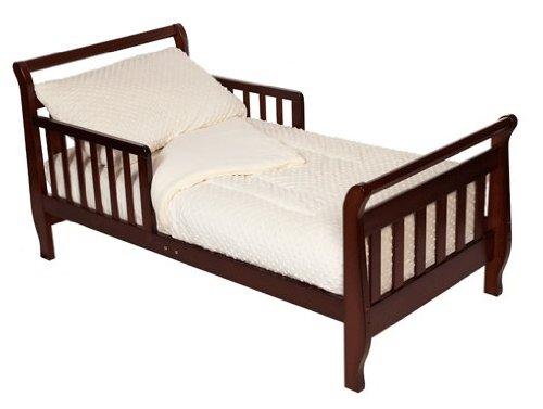Imagen de American Baby Compañía Minky Chenille Dot 4-piece set Toddler Bed, Ecru
