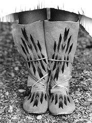Plains Indian Hightop Moccasin Pattern