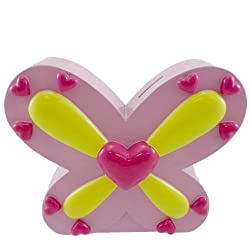 Bank Multi Pink Hearts Bank Resin Resin Butterfly Coins 119379