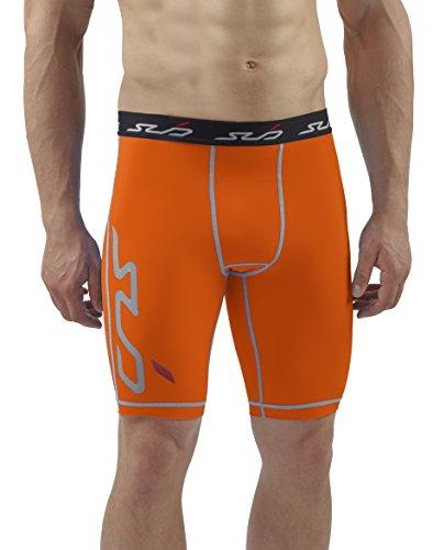 sub-sports-maglietta-dual-pantaloncini-a-compressione-strato-base-uomo-orange-m