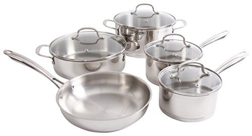 Oster Halo  9 Piece Cookware Set, Stainless Steel (Oster Broiler Oven compare prices)