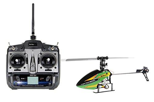 13002110 Ferngesteuerter RC Hubschrauber Flybarless 200 Trainer RTF 2.4 GHz 4 mit 6S Profi 6 Kanal Sender gelb grün