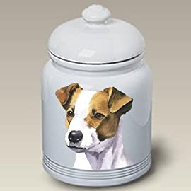 Jack Russell Terrier Dog Cookie Jar by Barbara Van Vliet