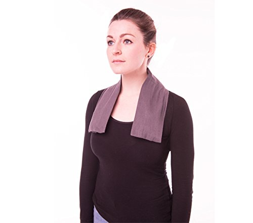 Frozenpeaz Reusable Heat/Ice Wrap - Neck Wrap - Gray