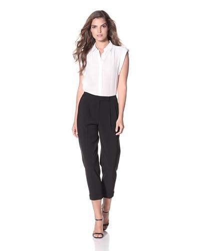 Elie Tahari Women's Rena Matte Crepe Pant  - Black