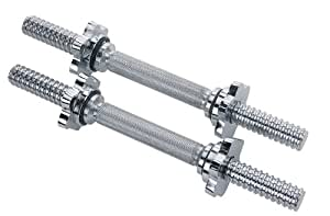 Sunny Chrome Dumbbell Bar, 14-Inch (Sold As Pair)
