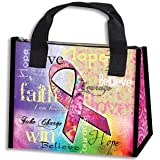 PINK RIBBON INSULATED LUNCH BAG/ Breast Cancer Awareness/Fundraisers/Woman/Lunch Bags