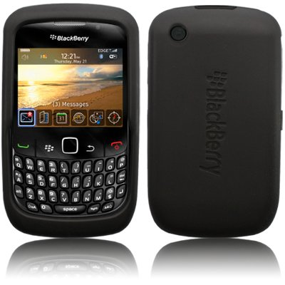 BLACKBERRY 8520 CURVE BLACK SKIN CASE BY CELLAPOD MOBILE PHONE CASES