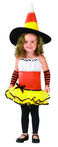 Candy Corn Witch Costume Size 3T-4T - 120111