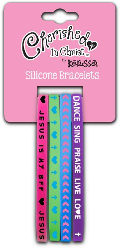 Jesus Is My BFF Silicone Bracelet Set - 1