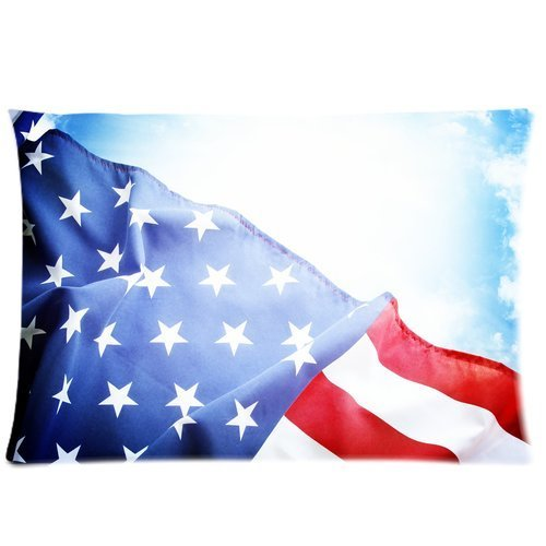 Butuku American Flag Custom Zippered Pillow Case 20X30 (One Side) front-1061043