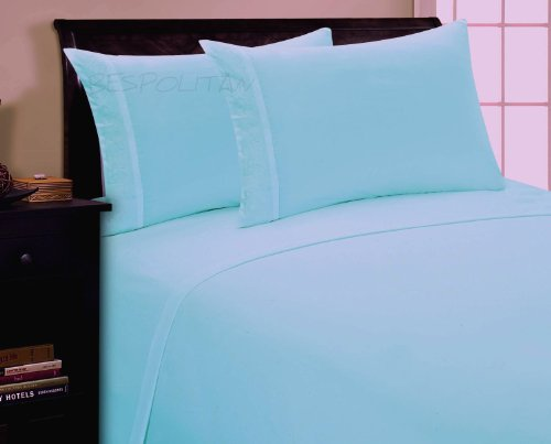 Aqua And Black Bedding