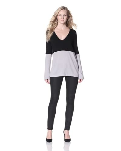 Halston Heritage Women's Colorblock Sweater  [Black/Flint]