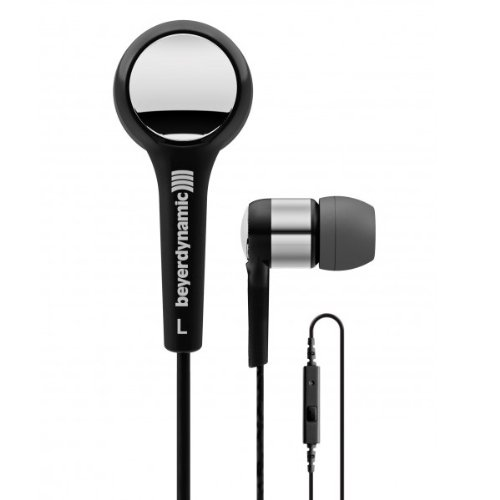 Beyerdynamic 716413 Mmx 102 Ie In-Ear Headset With In-Line Microphone, Black/Silver