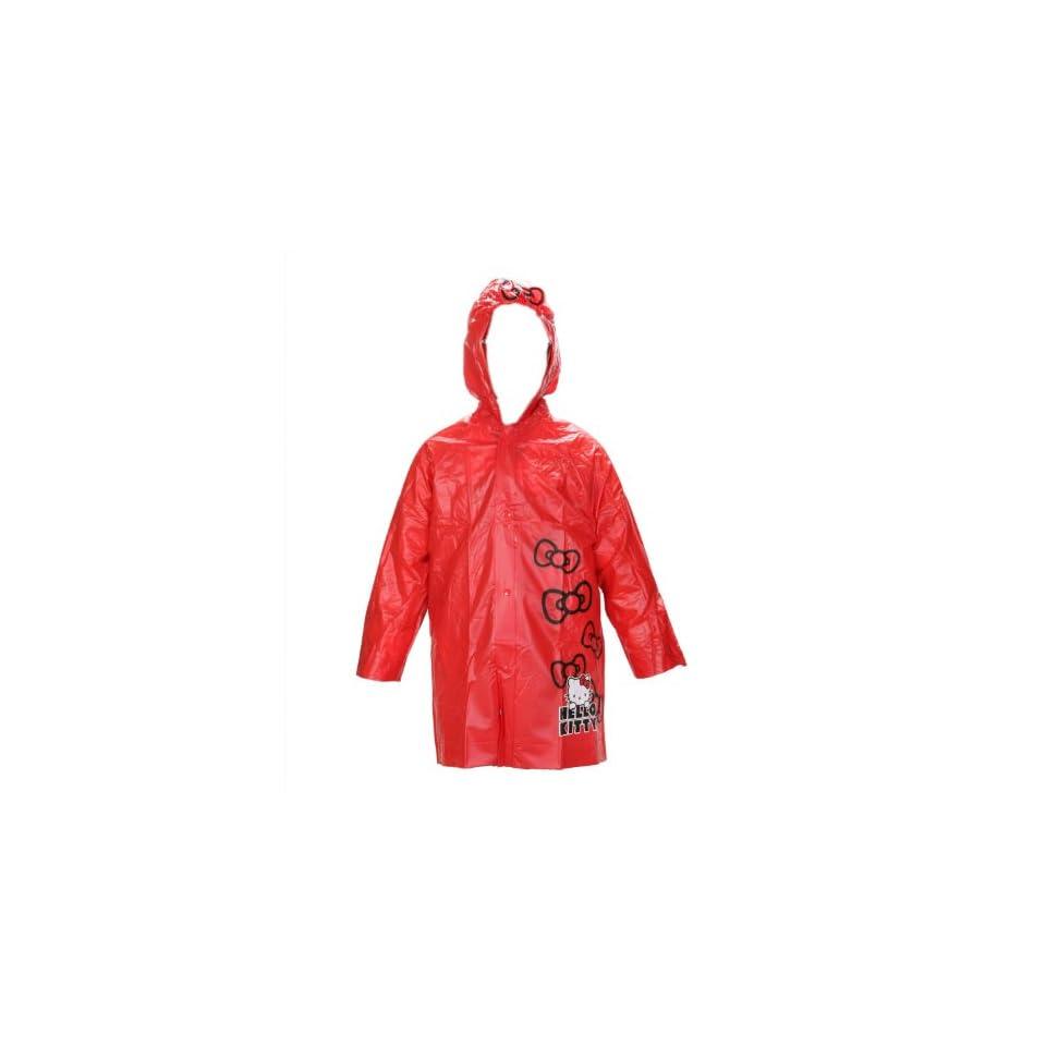 Sanrio Hello Kitty Girls Red Rain Slicker Size Large 6/7