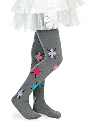 Girls Fashion Tights - Girls Leggings Grey w/ Argyle Design - (Size XL - Ages 11-14 Years)